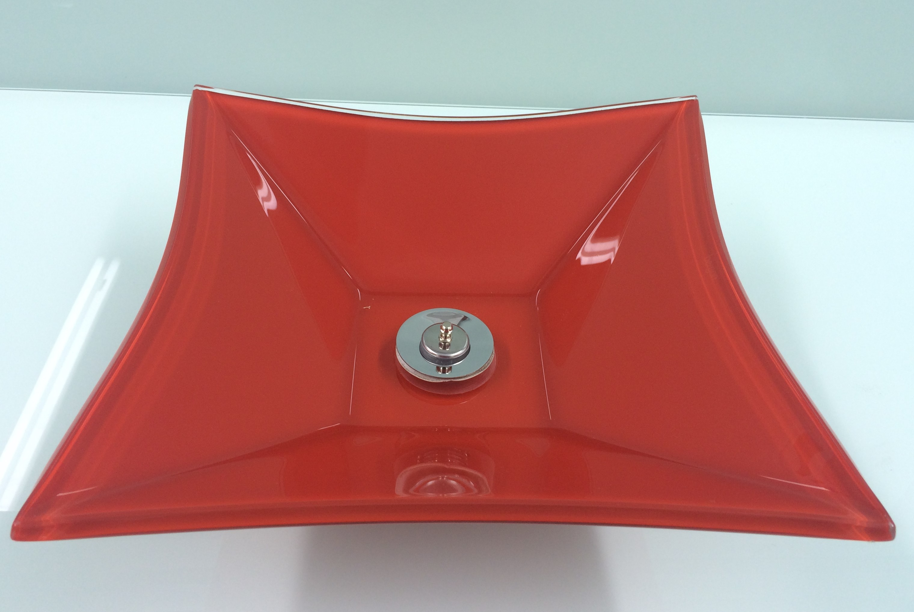 Cuba de Vidro Bergan - Sulle 41 x 31,5 cm 10 mm +V Vermelho