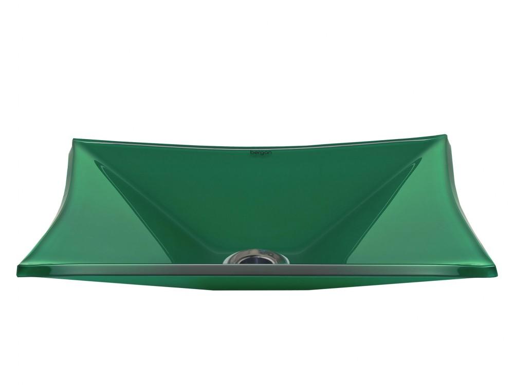 Cuba de vidro Grand Sulle 40x40 Cm - Vidro Esmaltado verde