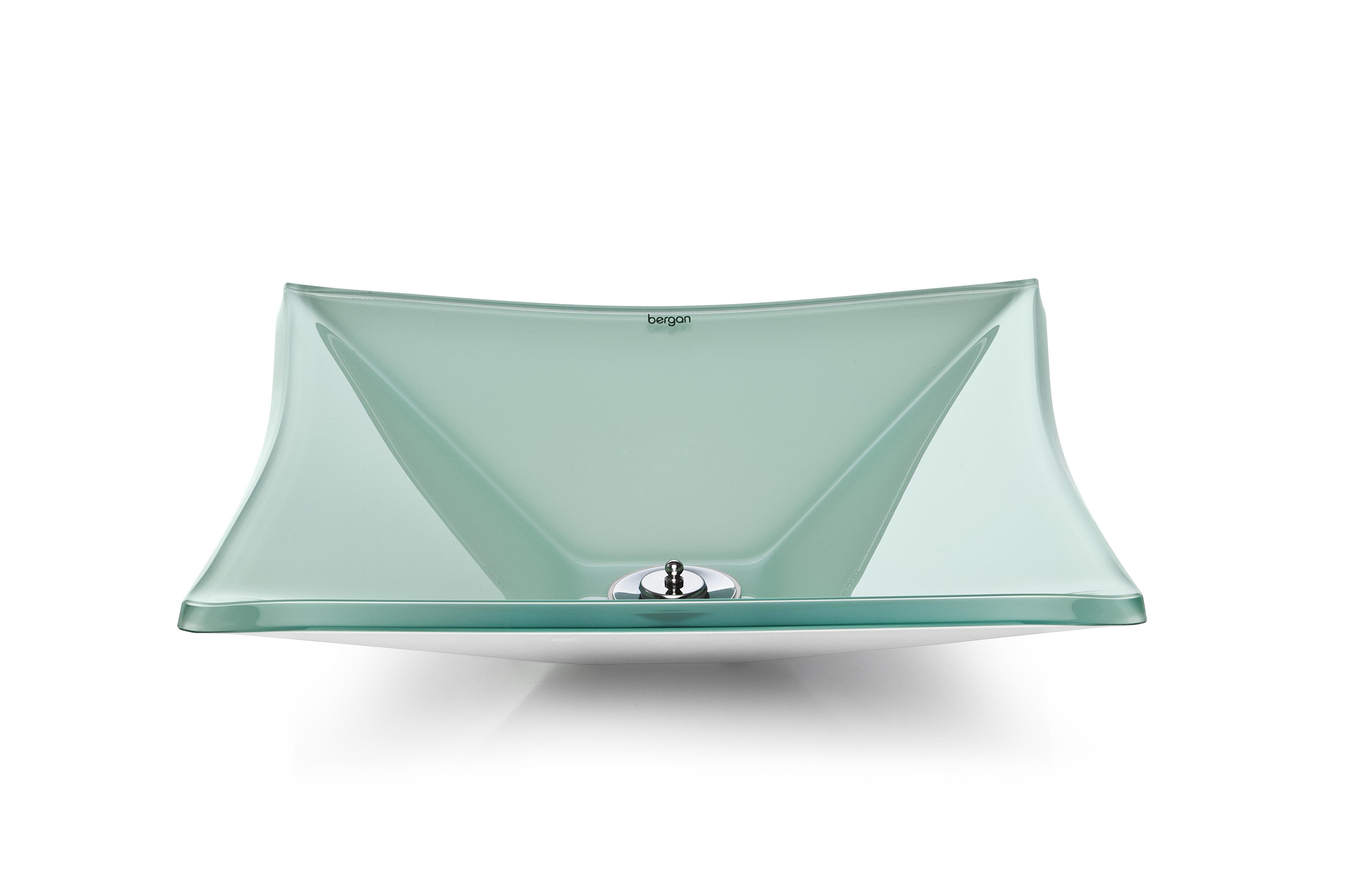 Cuba de vidro Grand Sulle 40x40 Cm - Vidro Esmaltado branco