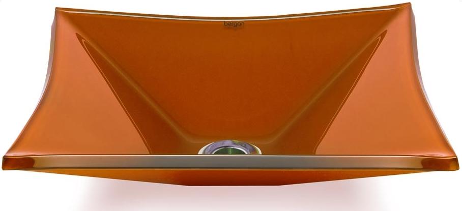 Cuba de vidro Grand Sulle 47 x 36 Cm - Vidro Esmaltado laranja