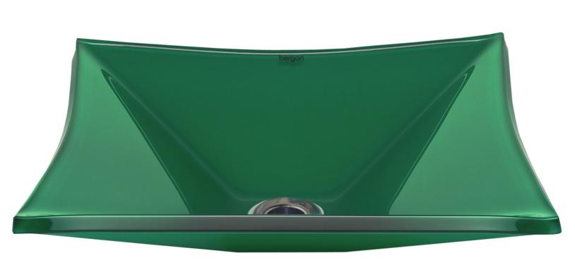 Cuba de vidro Grand Sulle 47 x 36 Cm - Vidro Esmaltado verde