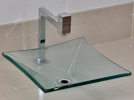 Cuba de vidro - Sulle 34 x 34 cm Incolor Bergan