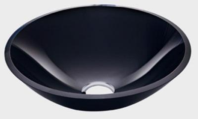 Cuba de Vidro redonda - 10mm Sem Aba 35 x 35 cm Preto Bergan