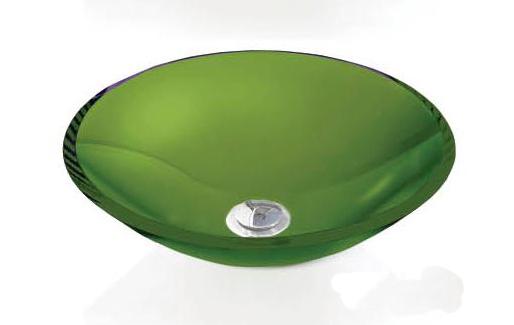 Cuba de Vidro redonda - 12mm Sem Aba 35 x 35 cm Verde Bergan