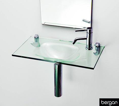 Lavatório de Vidro Reti 60 x 32 cm vidro Incolor Bergan