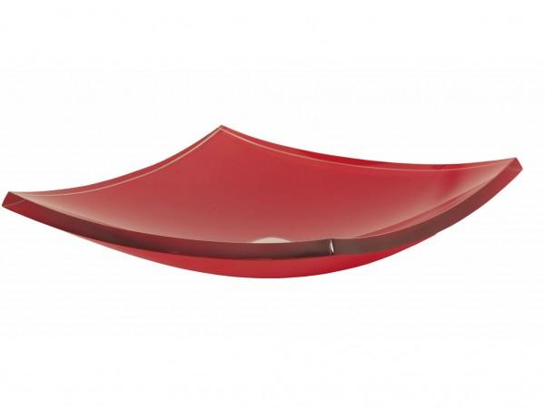 Cuba de Vidro Bergan - Piatto 45 x 45 cm Vermelho