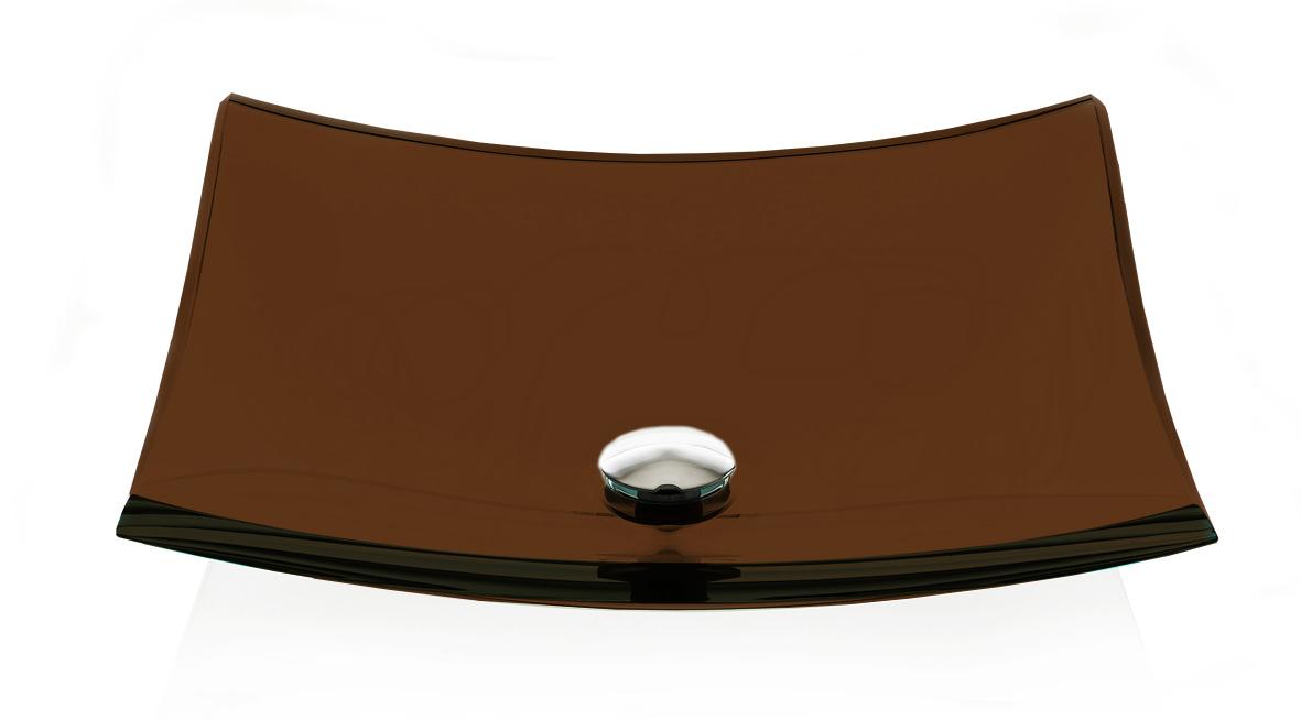 Cuba de Vidro Bergan - Piatto 45 x 45 cm Chocolate