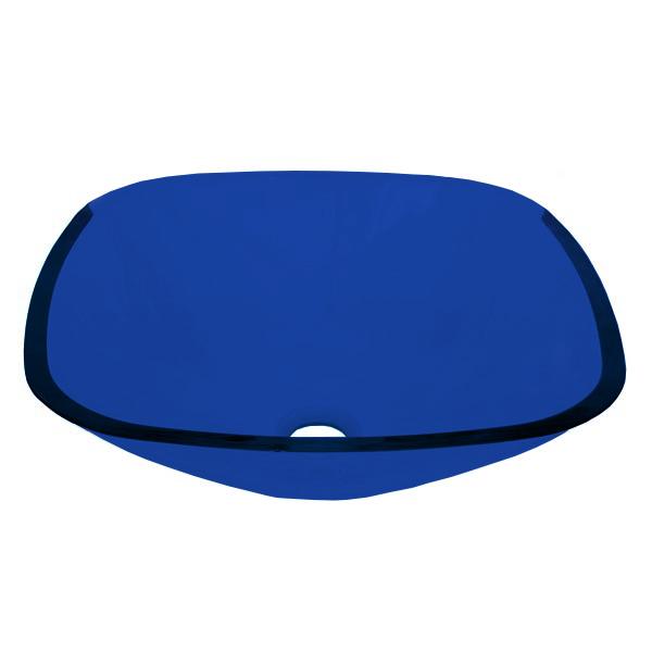 Cuba de Vidro Bergan - Quadrada 35 x 35 cm Azul Escuro