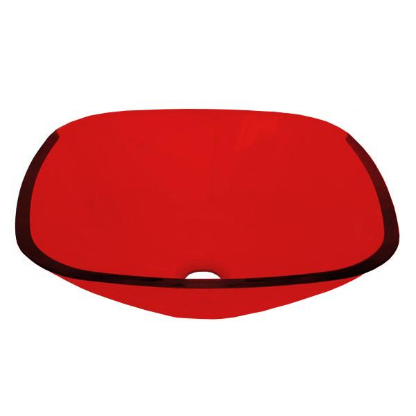 Cuba de Vidro Bergan - Quadrada 35 x 35 cm Vermelho