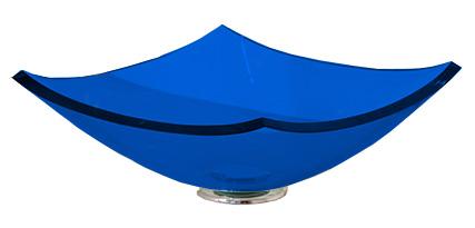 Cuba de Vidro Bergan - Quattro 35 x 35 cm Azul Escuro