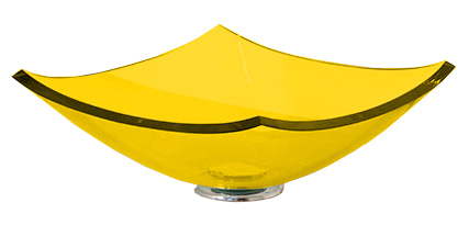 Cuba de Vidro Bergan - Quattro 35 x 35 cm Amarelo