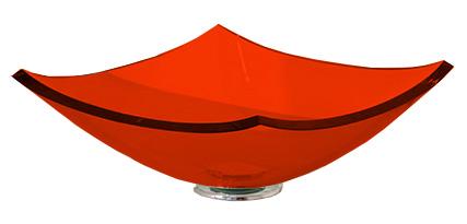 Cuba de Vidro Bergan - Quattro 35 x 35 cm Vermelho