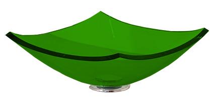 Cuba de Vidro Bergan - Quattro 35 x 35 cm Verde