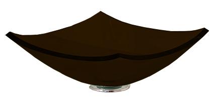 Cuba de Vidro Bergan - Quattro 35 x 35 cm Chocolate